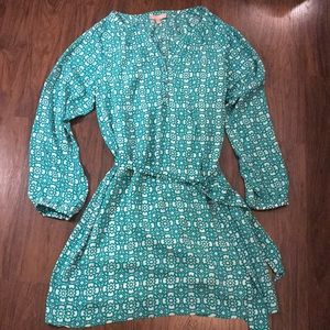 Banana Republic Factory Print Belted Dress